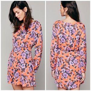 Free People Parker Floral Button Dress